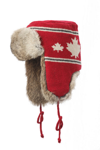 Knit Aviator with Rabbit Trim – Canada Series
