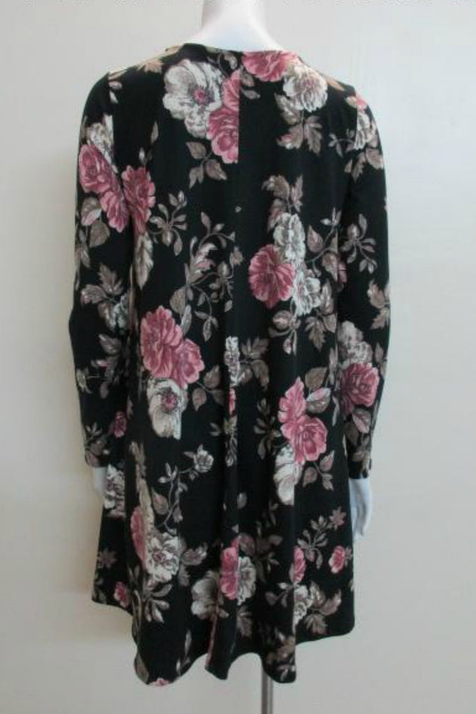 Floral Soft Knit L/S Dress