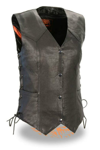Ladies Side Lace Four Snap Vest  #4546