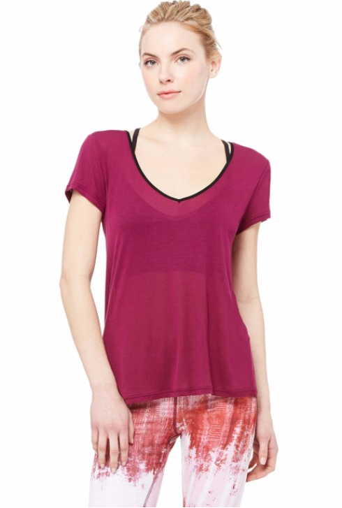 Row Short Sleeve Top