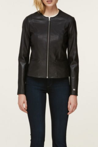 Audree Leather Coat