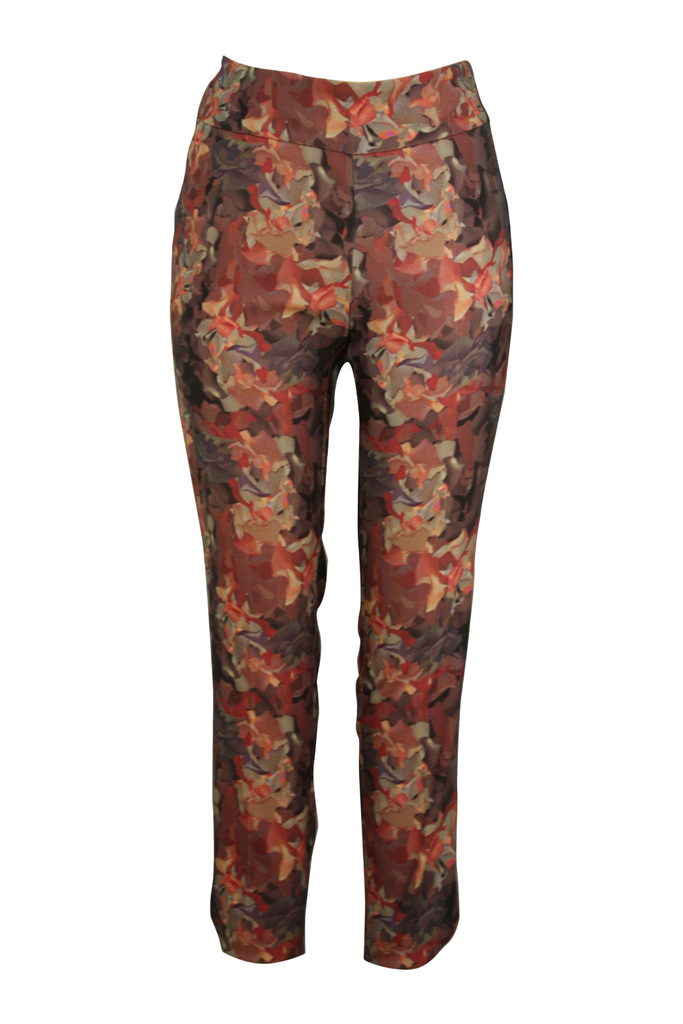 Fall Leaves Petal Slit Pant