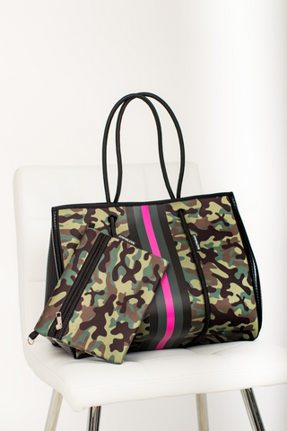 Large Tote Pink Army