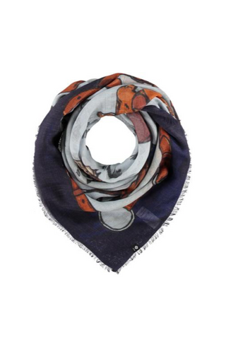 Giddy 'Up Lightweight Wool Printed Square Scarf
