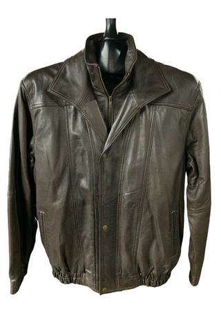 Oversized Dark Brown Leather
