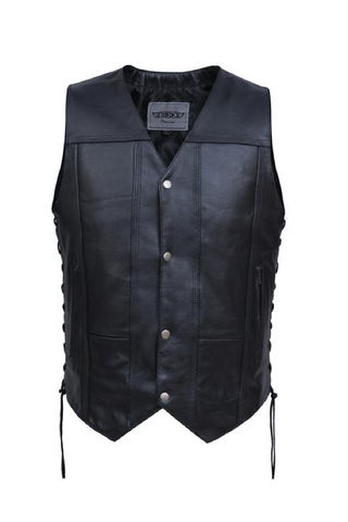 Unik 10 Pocket Leather Vest