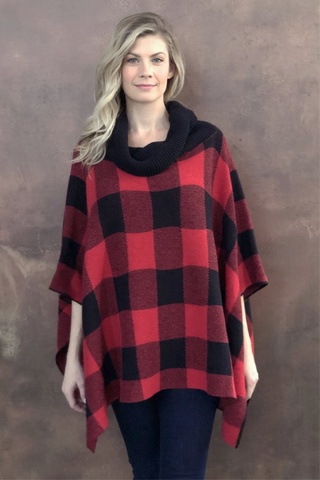 Kinsley Buffalo Check Poncho