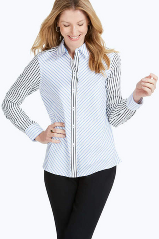 Ava Combo Stripe Shirt