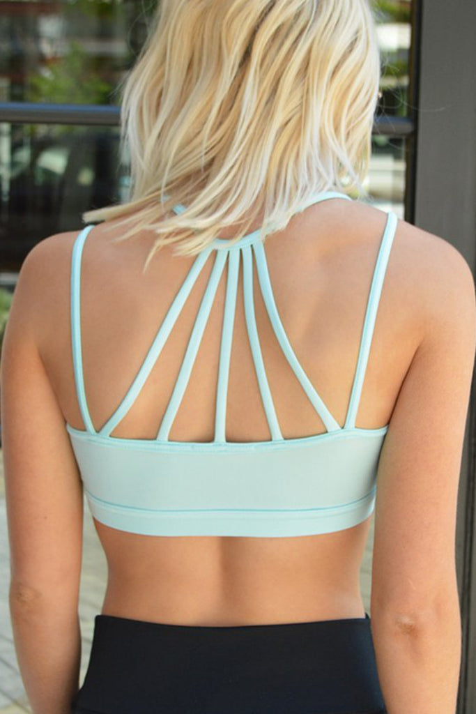 Crop Tank Back Detail Sports Bra