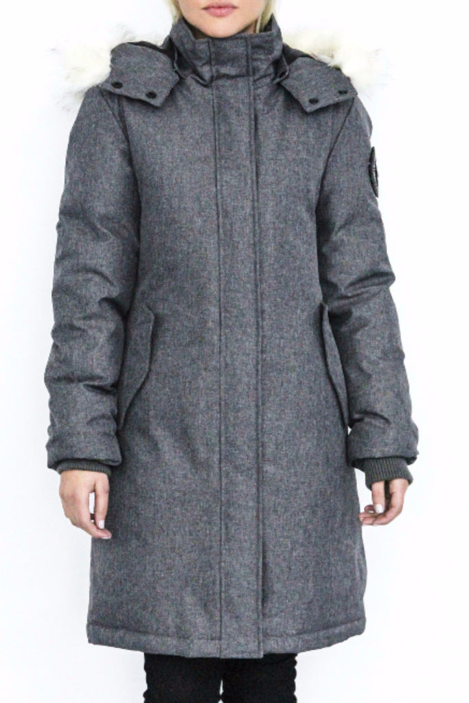 Gia Knee Length Down Jacket