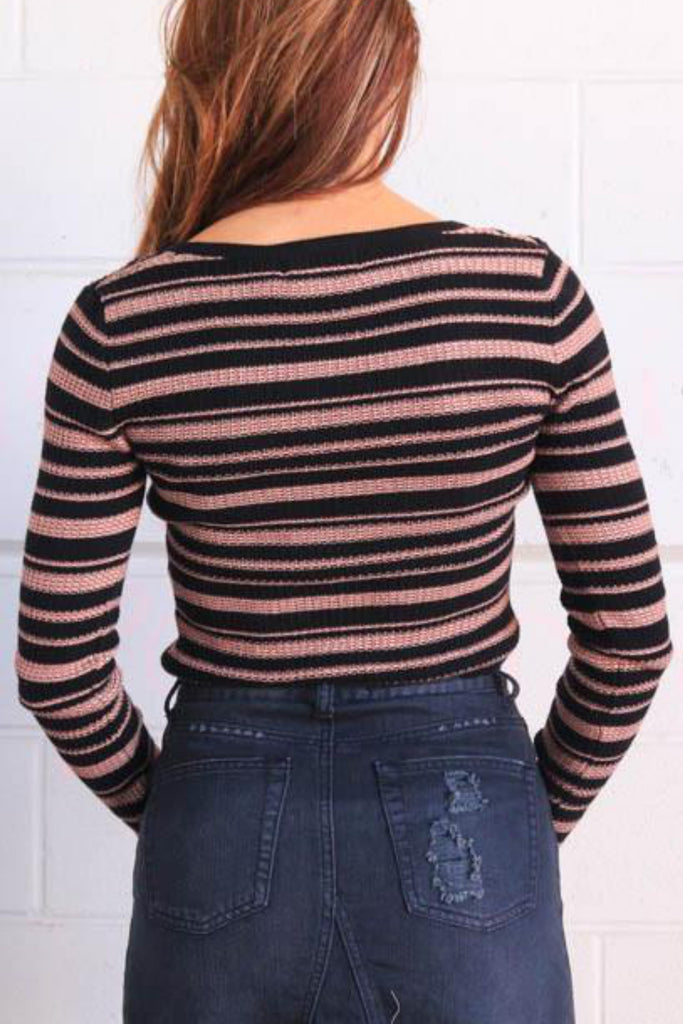 Luxembourg Stripe Knit Sweater