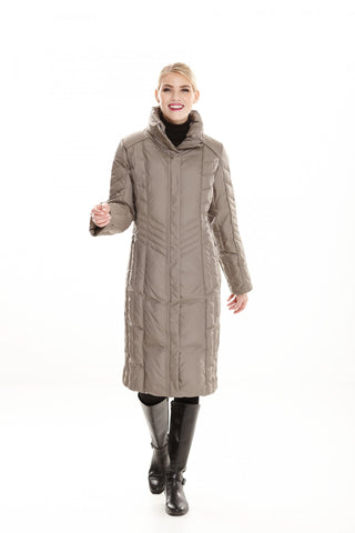 Down Filled Full Length with Removeable Hood Jacket 1075