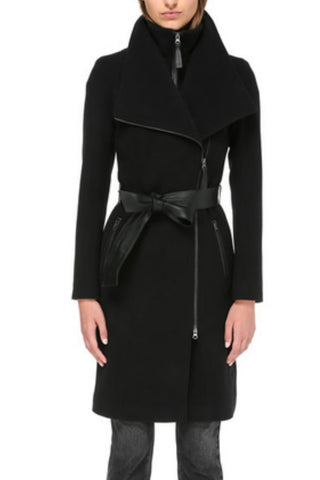 NORI TAILORED WOOL COAT WITH WIDE LAPEL