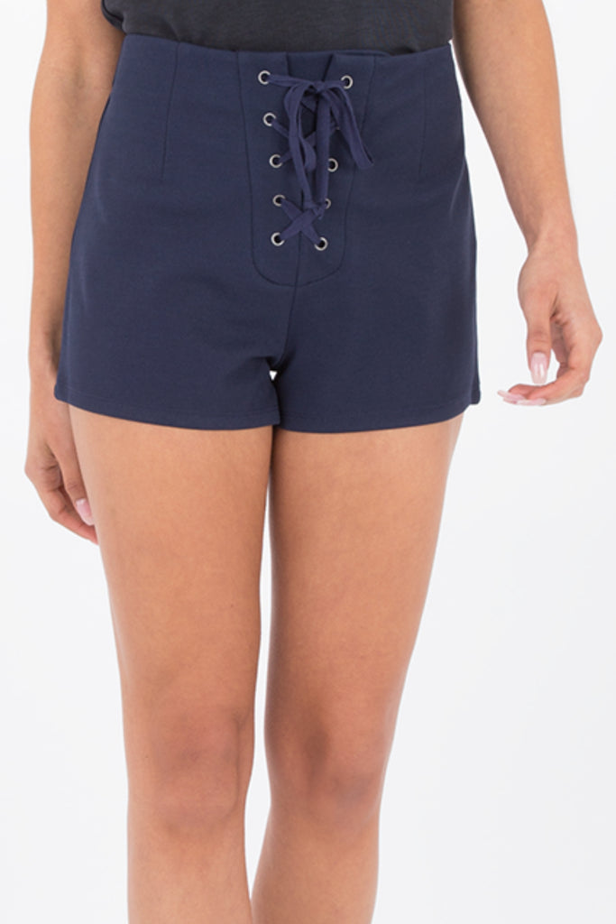 Nikkita Lace Up Shorts