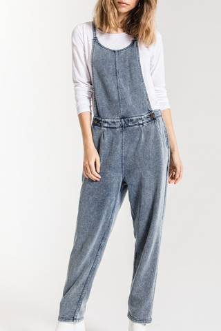 The Knit Denim Overalls