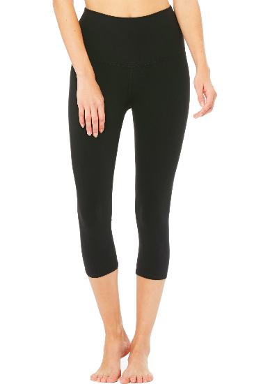High Waist Airbrush Legging Capri
