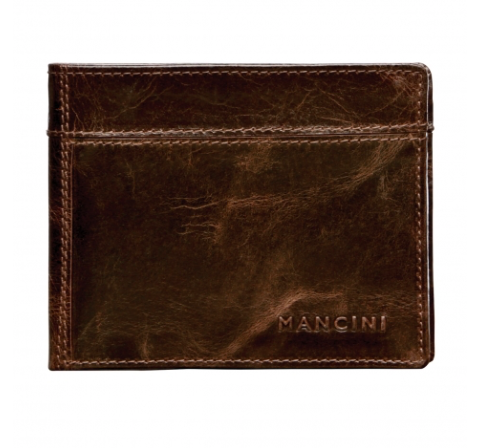 Mens Classic Billfold with Middle Removable Side Case