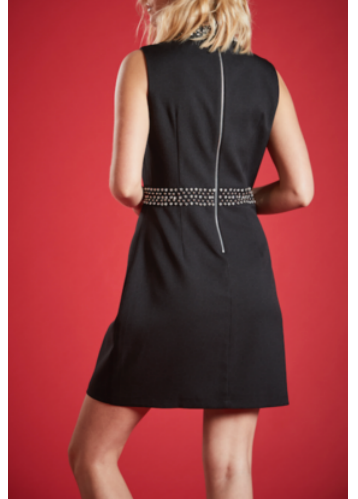 IOLITE  BEADING DETAIL MINI DRESS
