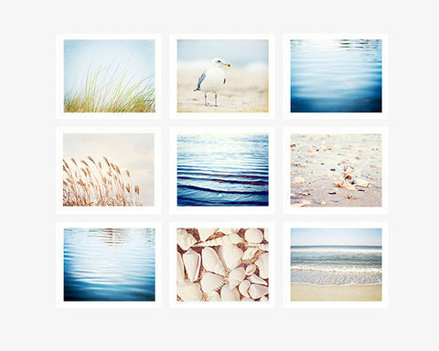 Coastal Beach Photography Art Set by CarolynCochrane.com