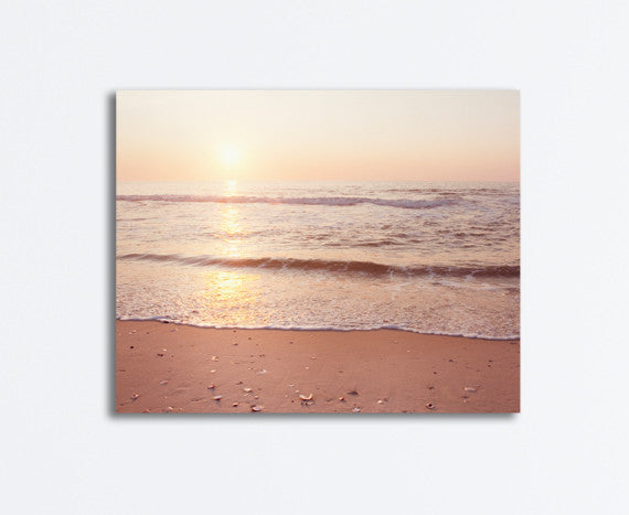 Ocean Sunrise Photography Canvas by carolyncochrane.com
