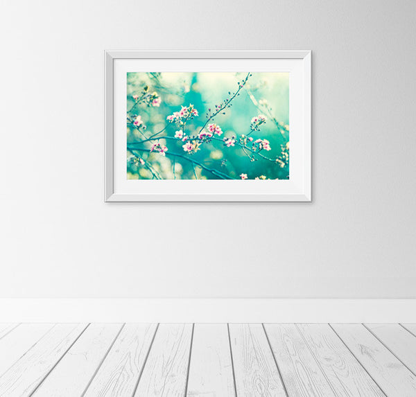 Teal Pink Nature Photography Print by carolyncochrane.com