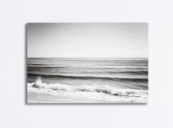 Black and White Ocean Photography Canvas by carolyncochrane.com