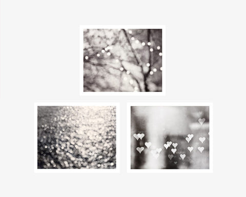 Black and white abstract sparkle photography by carolyncochrane com