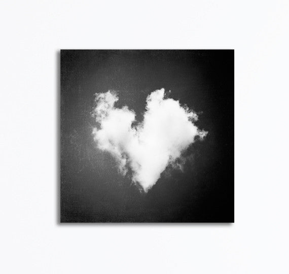 Black and White Heart Canvas Photography by carolyncochrane.com