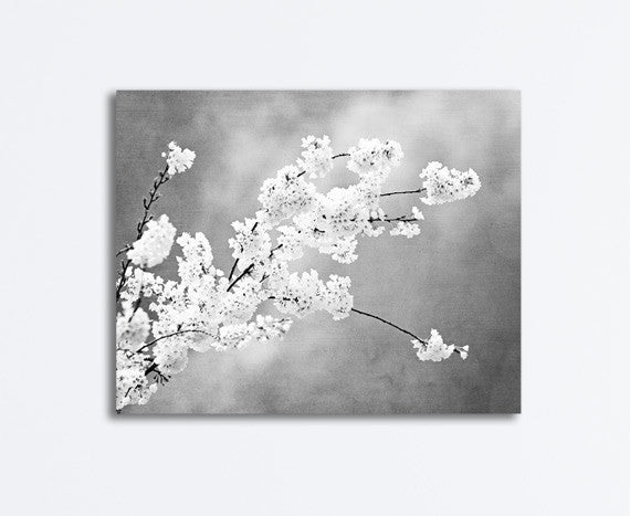 Black and White Floral Canvas by carolyncochrane.com