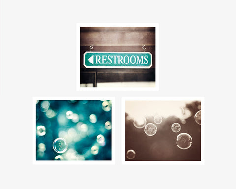Bathroom Wall Art Photography Set by carolyncochrane.com