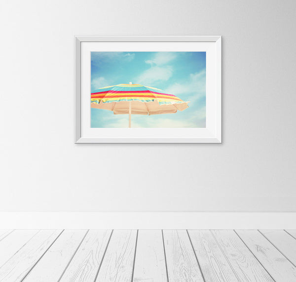 Beach Umbrella Art Print by carolyncochrane.com