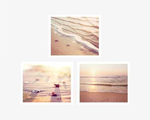 Beach Wall Art Prints Set by carolyncochrane.com