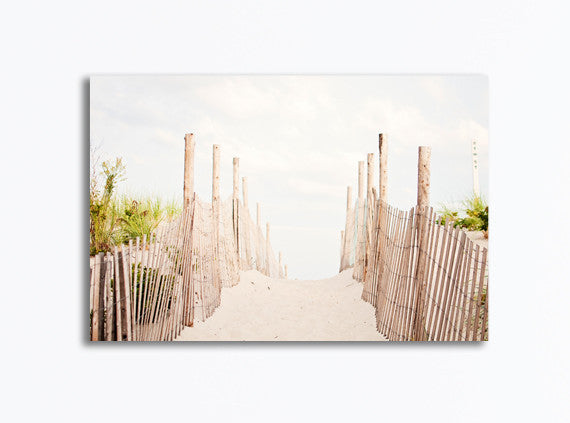 Beach Fence Canvas Art by carolyncochrane.com