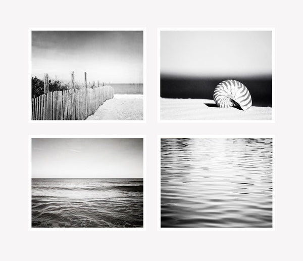 Black and White Coastal Photography Set by carolyncochrane.com