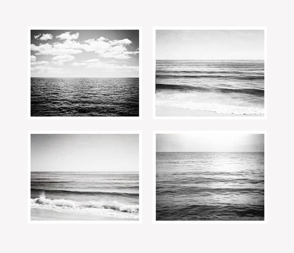 Black and White Ocean Photography Set by carolyncochrane.com