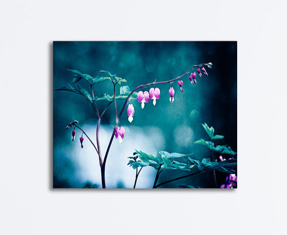 Dark Blue Pink Flower Canvas Photography by carolyncochrane.com