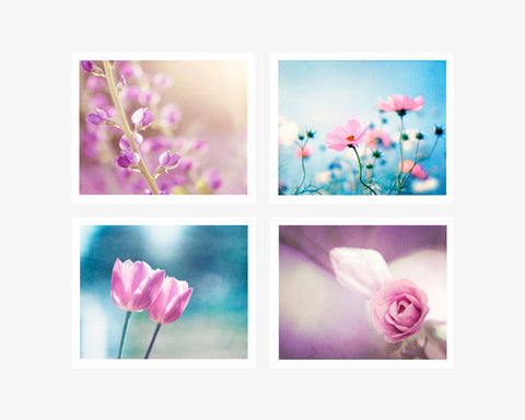 Blue Pink Photography, Set of 4
