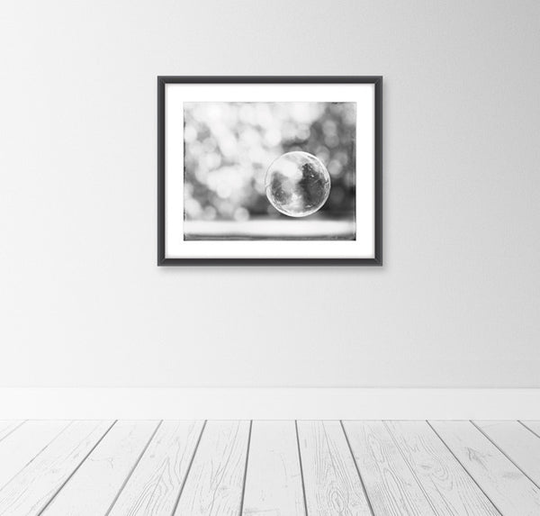 Black and White Bathroom Bubble Art by carolyncochrane.com
