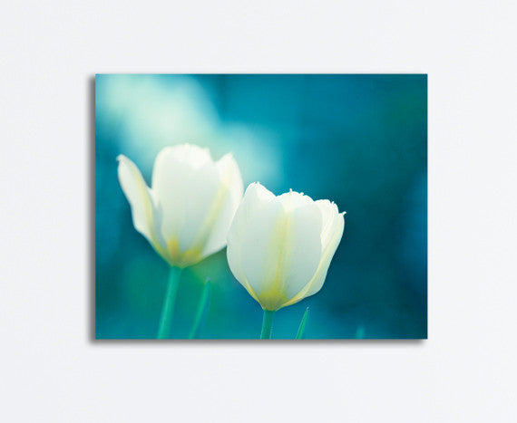 Teal Flower Photography Canvas by carolyncochrane.com