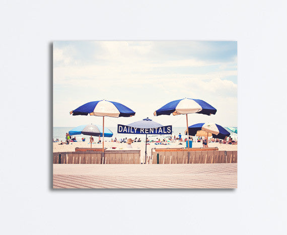 Beach Umbrella Photography Canvas Art by carolyncochrane.com