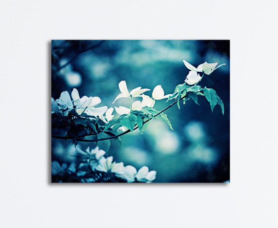 Dark Blue Nature Canvas Art by carolyncochrane.com