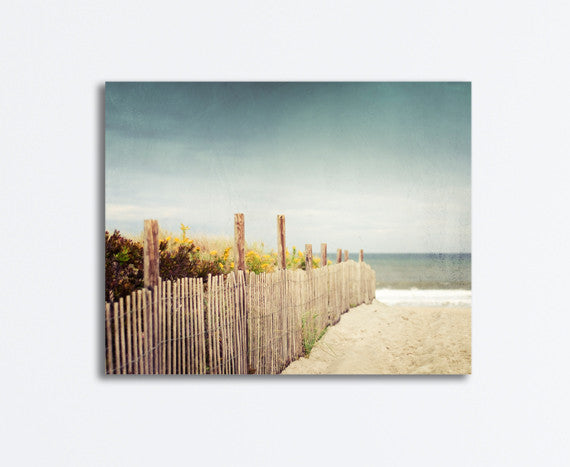 Beach Fence Landscape Canvas by carolyncochrane.com