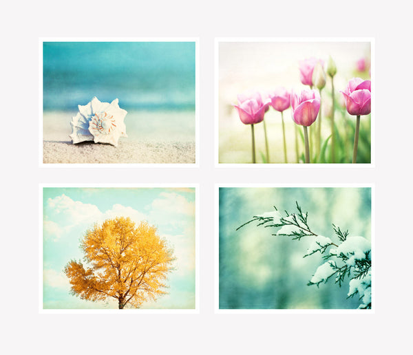 Four Seasons Photography Art Set by carolyncochrane.com