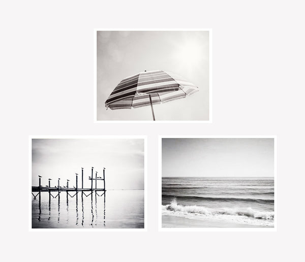 Grey Beach Wall Art by carolyncochrane.com