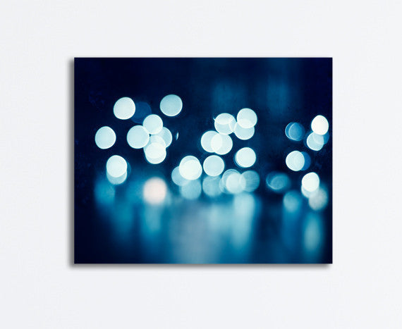 Dark Navy Blue Abstract Canvas Art by carolyncochrane.com