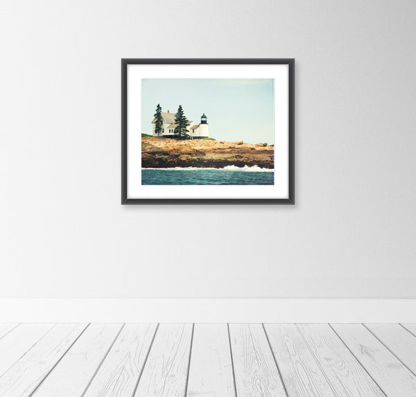 Winter Harbor Lighthouse, Maine Art by carolyncochrane.com