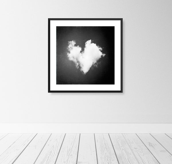Black and White Heart Photography by carolyncochrane.com