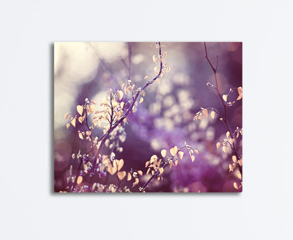 Purple Nature Canvas Art by carolyncochrane.com