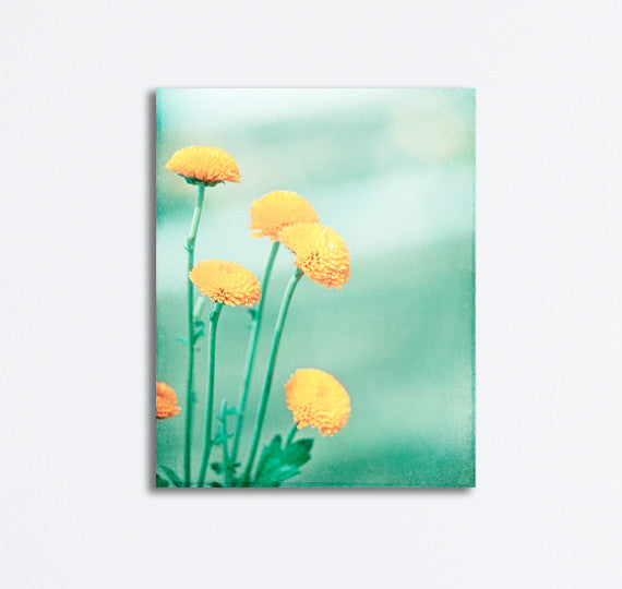 Mint Yellow Canvas Art by carolyncochrane.com