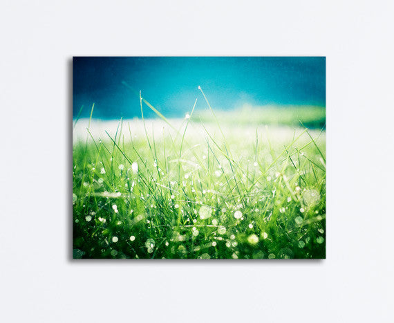 Green Blue Nature Canvas by carolyncochrane.com